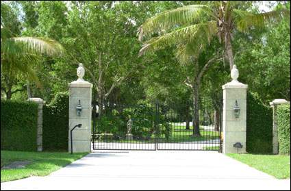 Busch Residence Gate View
