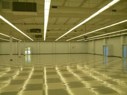 Ace Hardware from the inside, flooring
