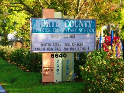 North County Charter School Sign